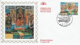 MONACO FDC 1997 DYNASTIE DES GRIMALDI - JEAN II - FDC