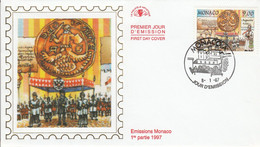 MONACO FDC 1997 DYNASTIE DES GRIMALDI - AUGUSTIN - FDC