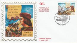 MONACO FDC 1997 DYNASTIE DES GRIMALDI - LUCIEN - FDC