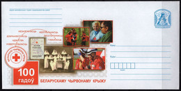 Belarus 2021 Postal Stationery Cover 100 Years Of The Belarusian Red Cross - Croce Rossa