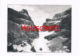048 Brentagruppe Bocca Di Brenta Dolomiten Großbild Druck 1899!! - Stampe
