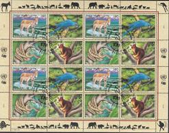 UNO GENF 369-372, Kleinbogen, Gestempelt, Gefährdete Arten, 1999 - Blocks & Kleinbögen