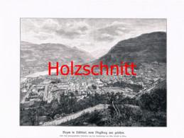 050-2 Bozen Bolzano Virglberg Südtirol Großbild Druck 1899!! - Stampe