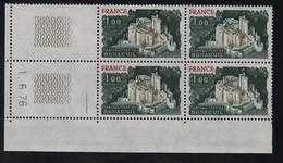 FRANCE  Coin Daté **   N° Yvert  1871 Bonaguil  -1.6.76  Neuf Sans Charnière CD - 1970-1979