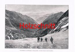053 Pfandlscharte Bergsteiger Glockner Großbild Druck 1899!! - Stampe