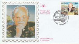 MONACO FDC 1997 DYNASTIE DES GRIMALDI - RAINIER III - FDC
