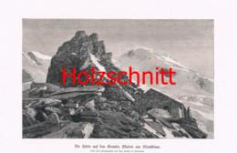 058-2 Grand Mulets Hütte Montblanc Bergsteiger Großbild Druck 1899!! - Stampe