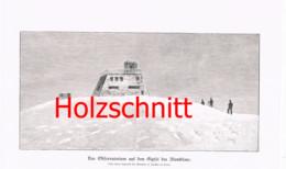 059-2 Observatorium Montblanc Bergsteiger Großbild HS 1899!! - Stampe