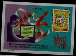 ITALY 1998 INTERNATIONAL STAMP EXHIBITION ITALYA 98 MILAN MI No BLOCK 18 MNH VF!! - Blocchi & Foglietti