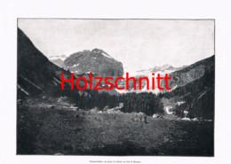 069-2 Val Di Genova Bergsteiger Bologninihütte Großbild Druck 1899!! - Stampe