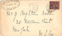 Cover Paris - New York 1879 - 1876-1878 Sage (Typ I)