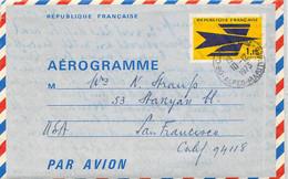 Aerogramm Frankreich - San Francisco 1973 - Zonder Classificatie