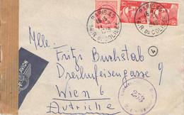 Lupo-Cover Paris - Wien 1949 AKS Zensur - 1927-1959 Brieven & Documenten