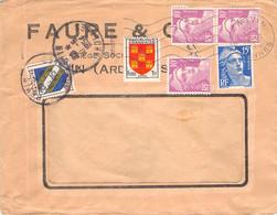 Cover Mit Mischrankatur Frankreich 1954 - 1927-1959 Brieven & Documenten