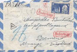 Lupo-Cover Lyon Bremen 1943 Nachgebühr Unsauber Geöffnet - 1927-1959 Brieven & Documenten