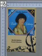 POSTCARD - MIREILLE MATHIEU -  LP'S COLLETION -   2 SCANS  - (Nº45524) - Music And Musicians
