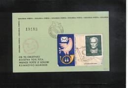 Yugoslavia / Jugoslawien 1962 Pigeonpost Interesting Postcard Scarce - Posta