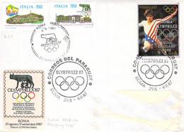 SST Olymphilex'87 MiF Italien 2019.20 - Paraquay 4078 Bedarf Nach München - 1981-90: Storia Postale