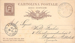 Card GS Taormina - Dresden 1881 AKS - Interi Postali