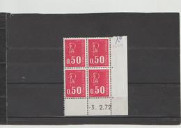 N° 1664 - 0,50 BEQUET - Sans PHO - 3.02.1972 - - 1970-1979