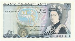 GREAT BRITAIN - 5 Pounds ND (1987-88) P378e, AUNC-UNC (GB008) - 5 Pounds