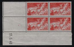FRANCE  Coin Daté **  200f  13.5.46 N° Yvert  PA 19  Neuf Sans Charnière CD  PA19 - 1940-1949