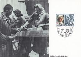 Liechtenstein 1985 816 CM Croix-Rouge Aide Aux Réfugiés 1945 40 Ans De Présidence De La Princesse Georgine - Croce Rossa