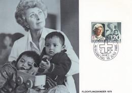 Liechtenstein 1985 818 CM Croix-Rouge Princesse Georgine Enfants Réfugiés Jouets  Flüchtlingskinder 1979 - Croce Rossa