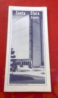 Carte Etats Unis Californie Santa Clara County California State Automobile Association AAA 1969 - Carte Stradali