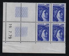 FRANCE  Coin Daté **  Sabine  0,02  19.7.79 N° Yvert  1963  Neuf Sans Charnière CD - 1970-1979