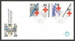Pays-Bas 1983 1206-09 FDC Croix-Rouge Néerlandaise Rode Kruis Le Droit à L'assistance Et à La Protection Les Quatre - Croce Rossa