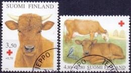 Finland 2000 Rode Kruis Huisdieren GB-USED - Gebraucht