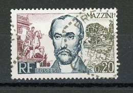 FRANCE - MAZZINI - N° Yvert 1384 Obli. CàD Hexagonal Perlé 1963 - Usados