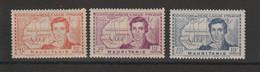 Mauritanie 1939 R Caillié 95-97 3 Val ** MNH - Unused Stamps