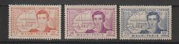 Mauritanie 1939 R Caillié 95-97 3 Val * Charnière MH - Unused Stamps