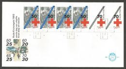 Pays-Bas 1983 C 1206 A FDC Croix-Rouge Néerlandaise Rode Kruis Le Droit à L'assistance Et à La Protection Pour La Paix - Croce Rossa