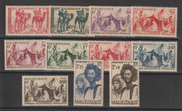 Mauritanie 1939-46 Série Courante 105-115 Sauf 112A 11 Val * Charnière MH - Unused Stamps