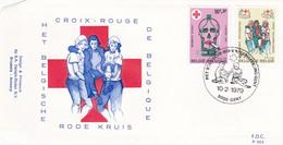 Belgique FDC 1979 1921-22 Croix-Rouge De Belgique Jeunes Secouristes Prévention Antitabac Contre Le Tabac, L'alcool Et - Croce Rossa