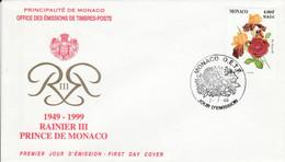 MONACO FDC 1999 ROSE ET IRIS - FDC