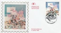 MONACO FDC 1999 10 ANS DE SPORTEL - FDC