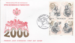 MONACO FDC 2000 LES QUATRE EVANGELISTES - FDC