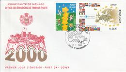 MONACO FDC 2000 EUROPA - FDC