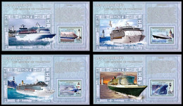 4 BL** ND (Ong) - Les Paquebots / Cruise Schepen / Kreuzfahrtschiffe / The Liners - CONGO - Ongebruikt