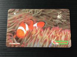 Singapore Telecom GPT Singtel Phonecard - FUJIFILM - Clown Fish, Set Of 1 Used Card - Singapore