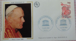France Cover First Day Of Issue Pope Jean Paul II 1980 - Briefe U. Dokumente