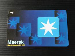 Singapore Telecom GPT Singtel Phonecard - MAERSK, Set Of 1 Used Card - Singapore