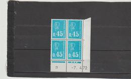 N° 1663 - 0,45 BEQUET - H De H+I - 1° Tirage Du 13.3.72 Au 7.4.72 - Dernier Jour - - 1970-1979