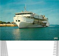 """Photo Cpsm Cpm 33 SOULAC. La Pointe De Grave Port Bloc Au Verdon. Navire Bac """" Le Médocain """" - Soulac-sur-Mer"""