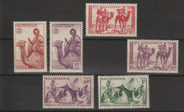 Mauritanie 1943-44 Série Courante 125-30 6 Val * Charnière MH - Unused Stamps