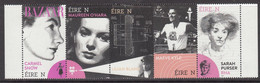 2020 Ireland Famous Women Film Fashion  Complete Strip Of 5 MNH @ BELOW FACE VALUE - Nuovi